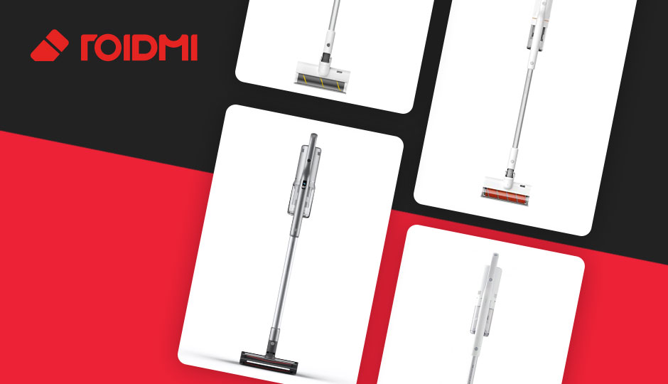 ROIDMI cordless vaccum cleaners