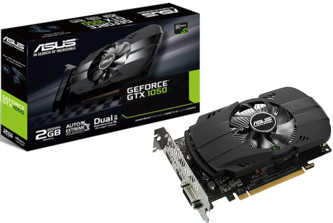 ASUS GeForce GTX 1050 PH 2GB + Rocket League pelikuponki