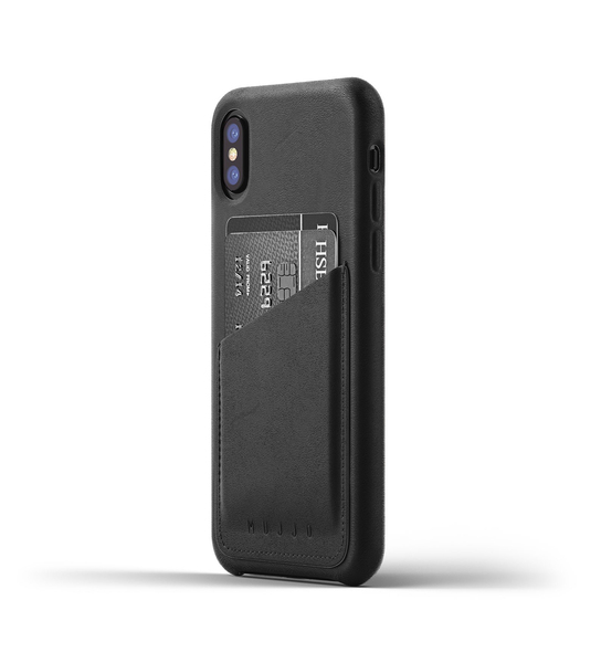 Mujjo Leather Wallet Case Iphone X Black Phone Covers Cases